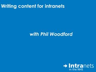 Writing content for intranets