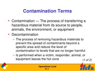 Contamination Terms