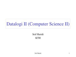 Datalogi II (Computer Science II)