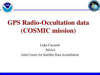 GPS Radio-Occultation data  (COSMIC mission)