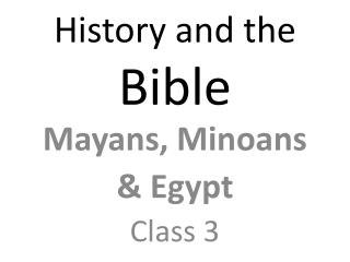 History and the  Bible