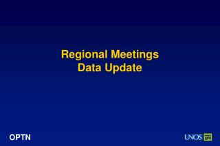 Regional Meetings Data Update