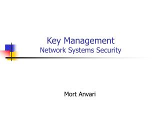 Key Management Network Systems Security
