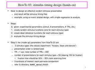 HowTo 03: stimulus timing design (hands-on)