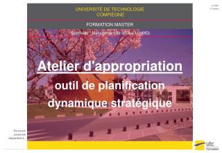 Atelier d'appropriation outil de planification dynamique stratégique