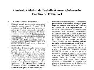 Contrato Coletivo de TrabalhoConven