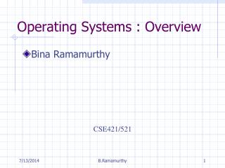 Operating Systems : Overview