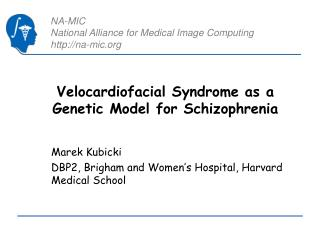Velocardiofacial Syndrome as a Genetic Model for Schizophrenia