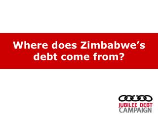 Where does Zimbabwe's debt come from?