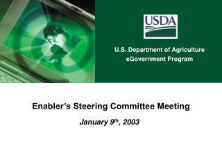 Enabler's Steering Committee Meeting