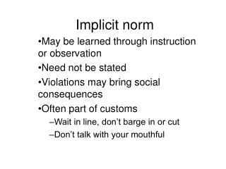 Implicit norm
