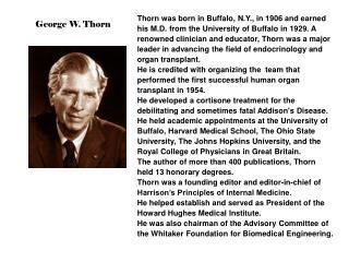 George W. Thorn