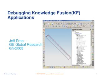 Debugging Knowledge Fusion(KF) Applications