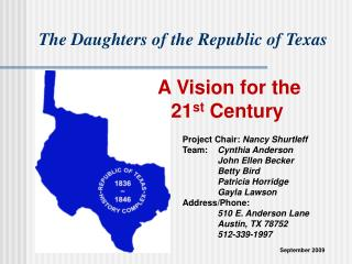 A Vision for the 21st Century: Republic of Texas History Complex