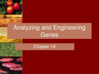 Analyzing and Engineering Genes