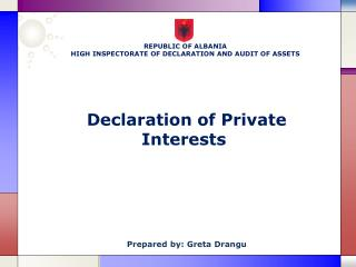 Declaration of Private Interests