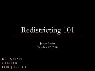Redistricting 101
