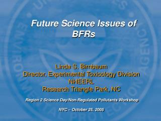 Future Science Issues of BFRs