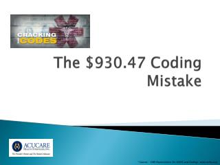 The $930.47 Coding Mistake