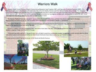 Warriors Walk