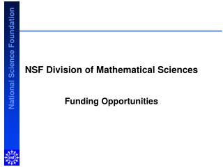 NSF Division of Mathematical Sciences
