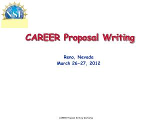 CAREER Proposal Writing
