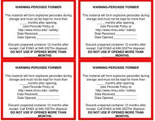 WARNING-PEROXIDE FORMER