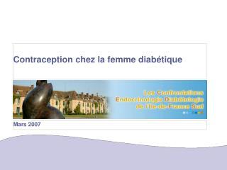 Contraception chez la femme diabétique