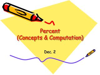 Percent (Concepts & Computation)