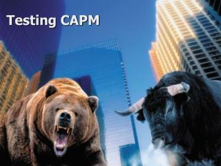 Testing CAPM