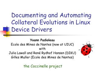 Documenting and Automating Collateral Evolutions in Linux Device Drivers