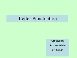 Letter Punctuation