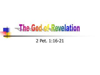 2 Pet. 1:16-21