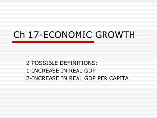 Ch 17-ECONOMIC GROWTH