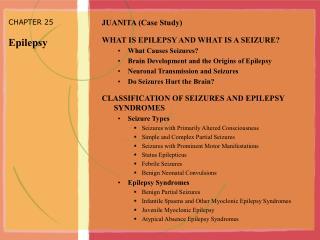 CHAPTER 25 Epilepsy