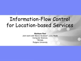 Information-Flow Control for Location-based Services