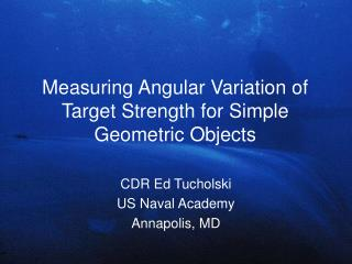 Measuring Angular Variation of Target Strength for Simple Geometric Objects