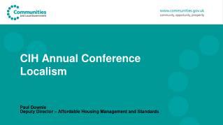 CIH Annual Conference Localism