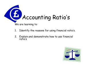 Accounting Ratio's