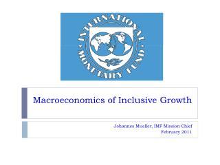 Macroeconomics of Inclusive Growth