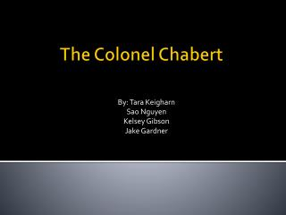 The Colonel  Chabert