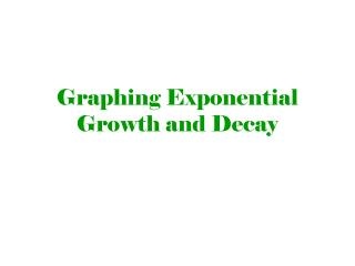 Graphing Exponential Growth and Decay