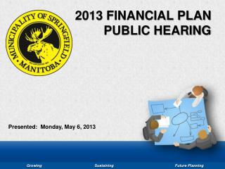 2013 FINANCIAL PLAN PUBLIC HEARING