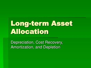 Long-term Asset Allocation