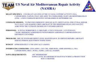 US Naval Air Mediterranean Repair Activity (NAMRA)
