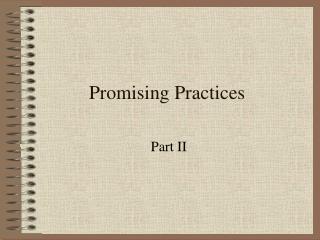 Promising Practices