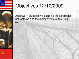 Objectives 12/10/2009