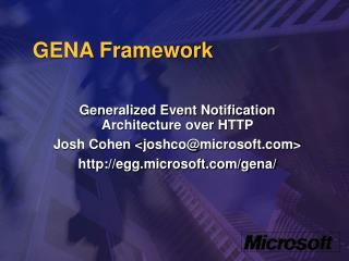 GENA Framework