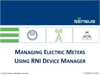 Managing  Electric Meters Using RNI Device Manager