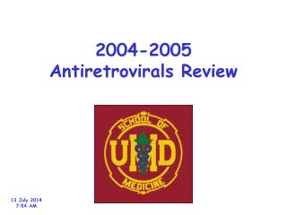 2004-2005 Antiretrovirals Review